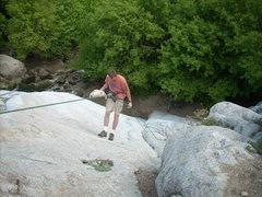 Rock Climbing Photo: setting top rope