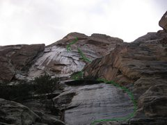 Rock Climbing Photo: A wet Texas Hold Em, Black Velvet Wall.