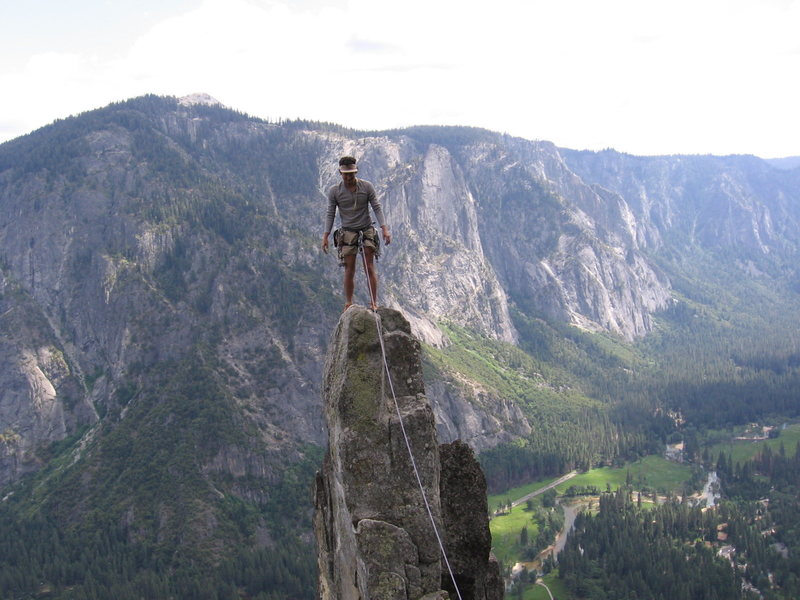 Rock Climbing Photo: A spire on the arete , but not the arrowhead spire...