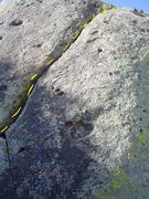 Rock Climbing Photo: Short 5.7 trad route to chain anchor.