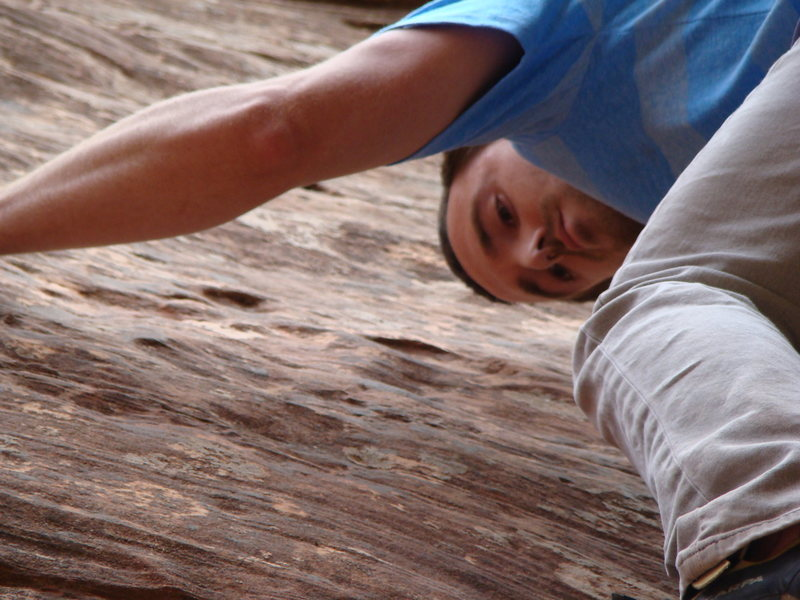 Rock Climbing Photo: very thin, round and sandy