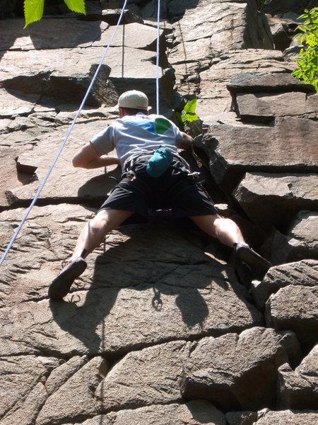 Rock Climbing Photo: Andy May on Rosebush.  We chose to climb the right...