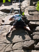Rock Climbing Photo: Andy May on Rosebush.  We chose to climb the right...