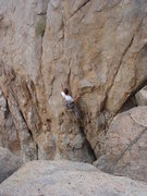 Rock Climbing Photo: Tom Donnelly starting up Far Beyond Driven