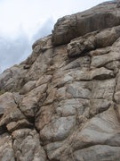 Rock Climbing Photo: The fractured left side of the west face.  Bagpipe...