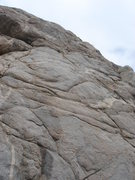 Rock Climbing Photo: Neil's follows the bolt line going over the negati...