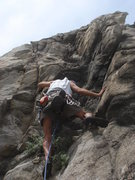 Rock Climbing Photo: Mike Williams starting the lower section of Highla...