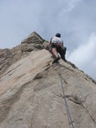 Rock Climbing Photo: Mike W starting up Bonnie Brae to top out from Hig...