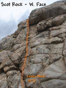Rock Climbing Photo: Crazy Rock (5.7), Scot Rock. Photo by Bill Olszews...