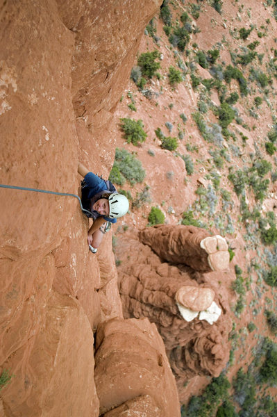 Rock Climbing Photo: Claire Rassmussen on pitch 2 of Dr. Rubos