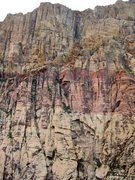 Rock Climbing Photo: A view of the FC slabs from across the canyon. If ...