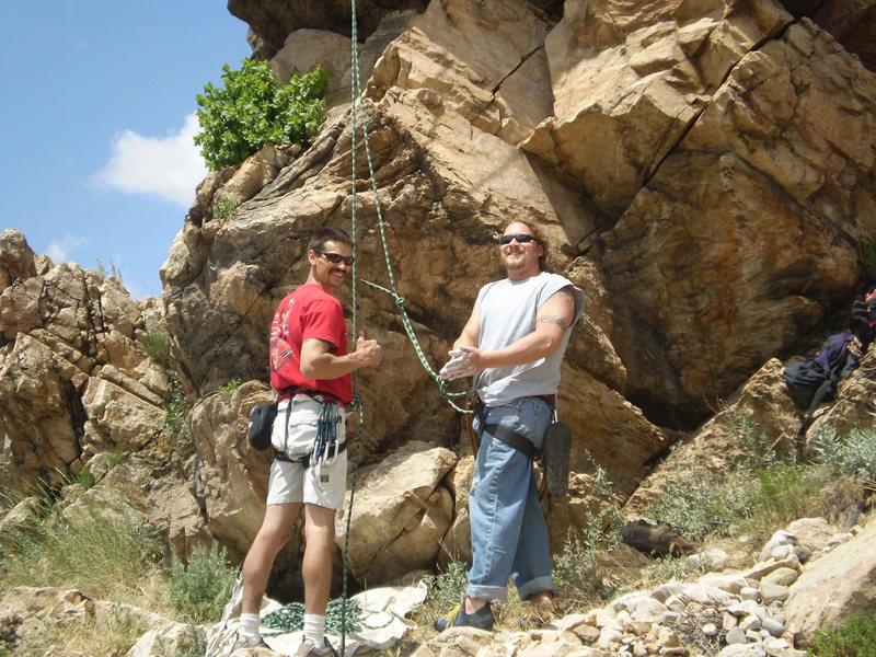 Rock Climbing Photo: on belay Jay