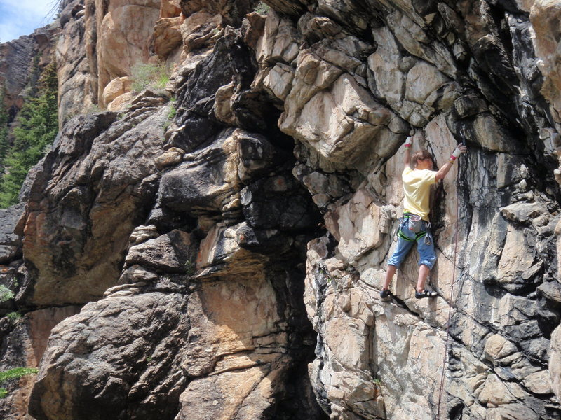 Rock Climbing Photo: Opening c walll-Independence Pass