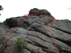 Rock Climbing Photo: I'm not sure what all of the lines are.  Looking a...