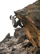 Rock Climbing Photo: Climber is on Butter Face. Arete to the right is H...