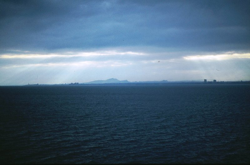 Edinburgh across the Firth of Forth from Aberdour.