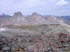 Rock Climbing Photo: Vestal and Arrow Peaks