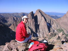 Rock Climbing Photo: Jack Eggleston on Monitor Peak.  Turret and Peak 1...