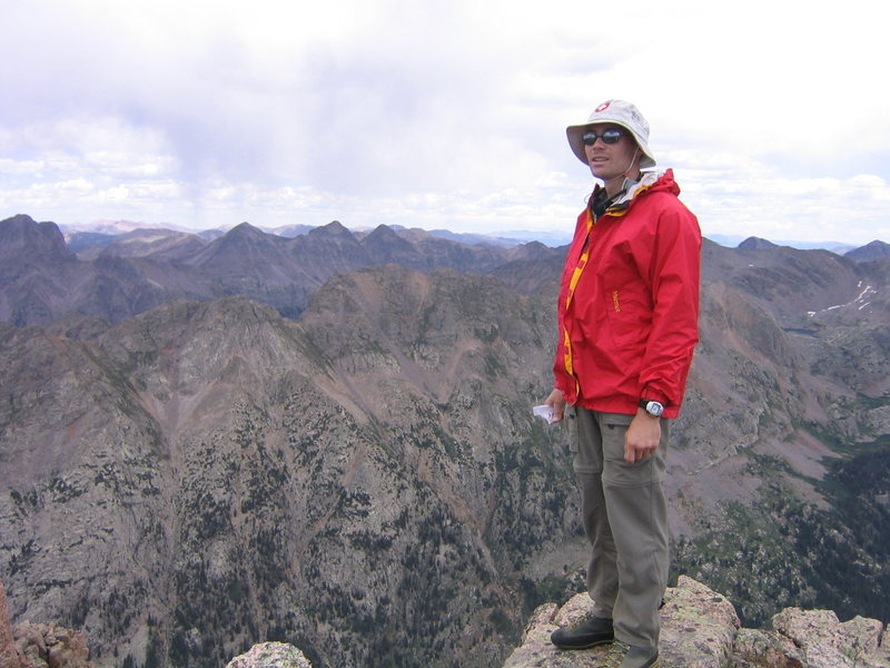 Rock Climbing Photo: On the summit of Animas Mountain.