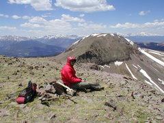 Rock Climbing Photo: On E. Buffalo Peak.