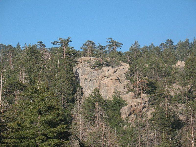 Rock Climbing Photo: Upper Dinosaur Rock, Keller Peak.
