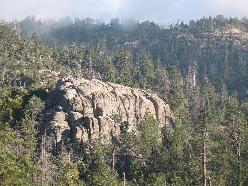 Lower Dinosaur Rock from the road, Keller Peak