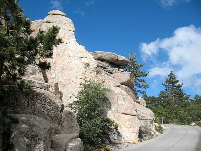 Keller Peak Road and the backside of the Hungover Wall, Keller Peak