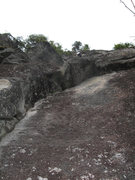 Rock Climbing Photo: #9 (10a), a route on the far left side of Blues Cl...