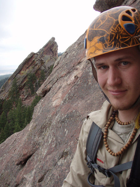 Rock Climbing Photo: Chilling on the last pitch of Fandango on the 1st ...