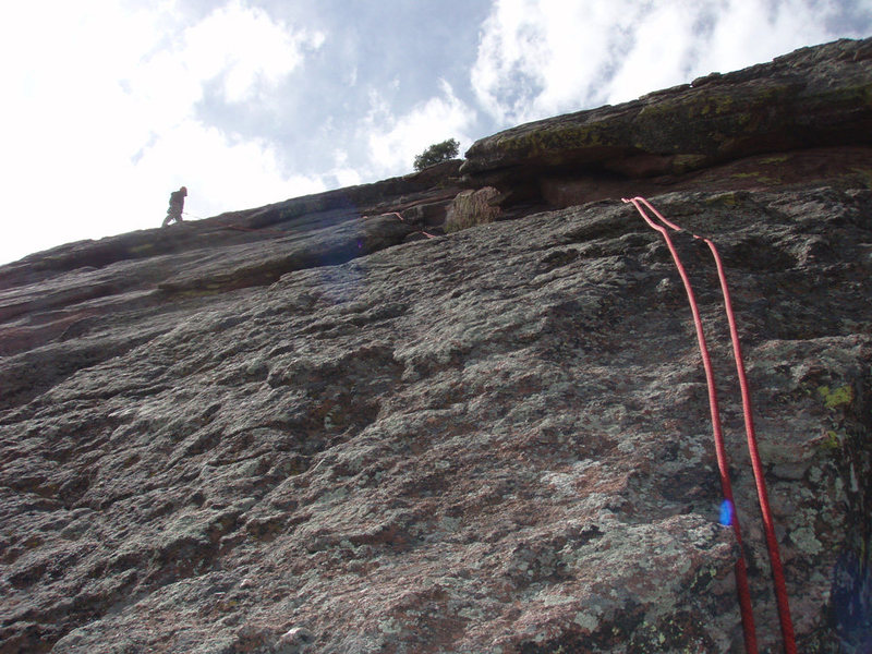 The final pitches of the Direct Route on the 1st Flatiron.