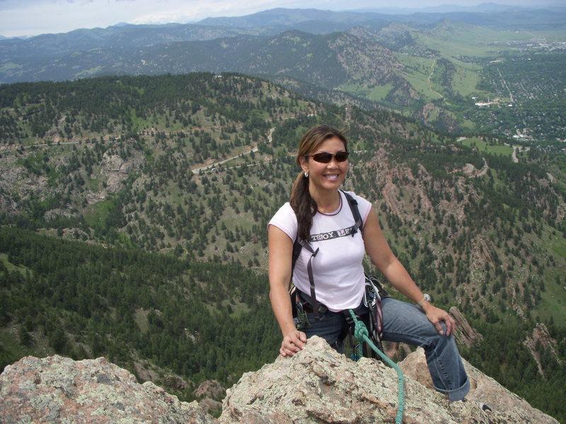 Rock Climbing Photo: Susie from Denver taking a break on the 1st Flatir...