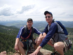 Rock Climbing Photo: Levi and Me from the summit of the 1st Flatiron
