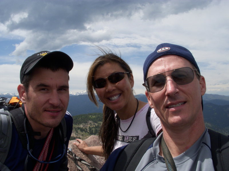 Rock Climbing Photo: Levi Susie and Me on the summit of the 1st Flatiro...