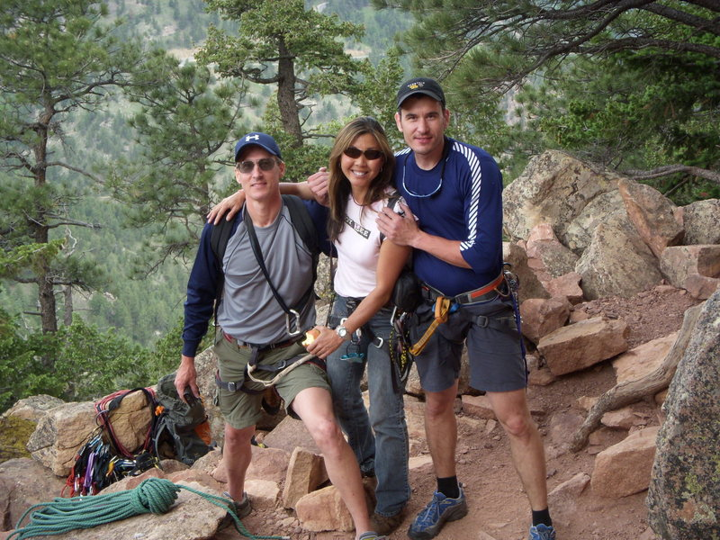 Rock Climbing Photo: Mike, Susie and Levi 3 up and 3 down on the 1st Fl...