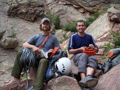 Rock Climbing Photo: Dustin & Levi gearing up fpr Calypso
