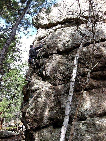 Rock Climbing Photo: Kai heading up the route