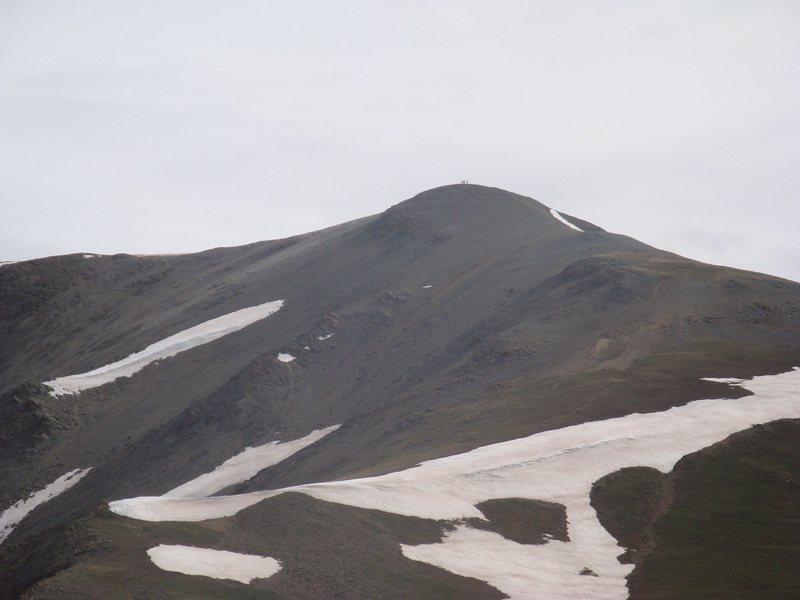 Climbers on top of Handies Peak