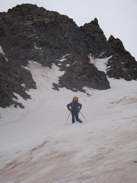 Tom Willis heading up Victory Couloir
