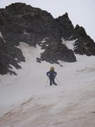 Rock Climbing Photo: Tom Willis heading up Victory Couloir