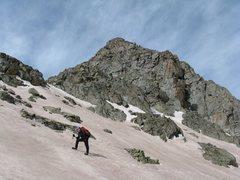Rock Climbing Photo: Me traversing head of American Basin