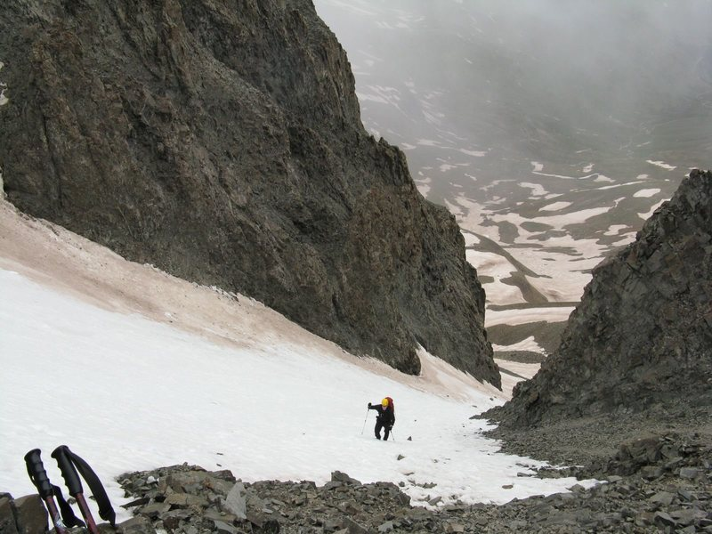 Me coming up Victory Couloir