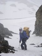 Rock Climbing Photo: Tom Willis heading down Independence Couloir
