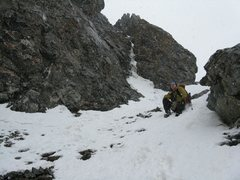 Rock Climbing Photo: Me coming down Independence Couloir