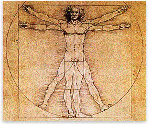 Rock Climbing Photo: Vitruvian Man (da Vinci)