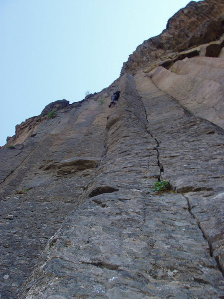 Rock Climbing Photo: Climber on Rhythm and Sorrow.  Colonade is the spl...