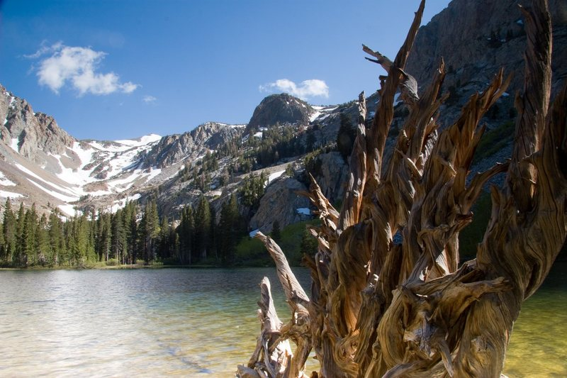 The tranquil Fern Lake, situated 1500' above the village of June Lake.