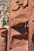 Rock Climbing Photo: Passing the second roof of Turkish Delight in Sedo...