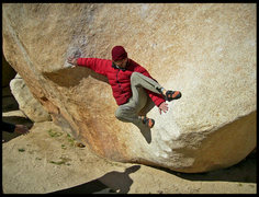 Rock Climbing Photo: Goofing off on Stem Jem.  I almost sent this probl...