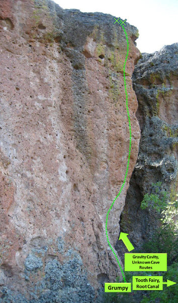 Rock Climbing Photo: Giant's Molars Topo 1