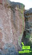 Rock Climbing Photo: Giant's Molars Topo 1